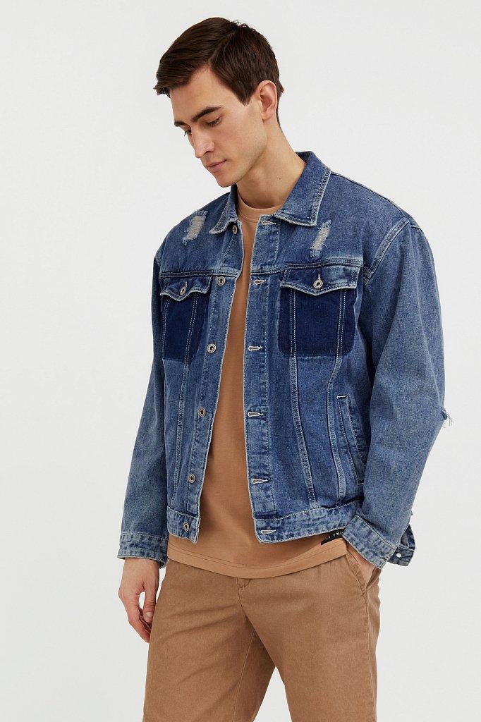 Джинсовая куртка из 100% хлопка, Модель S21-25005, Фото №1