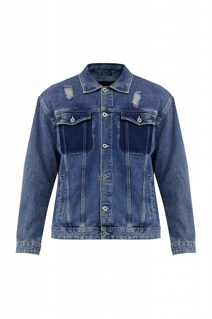 Джинсовая куртка из 100% хлопка, Модель S21-25005, Фото №7