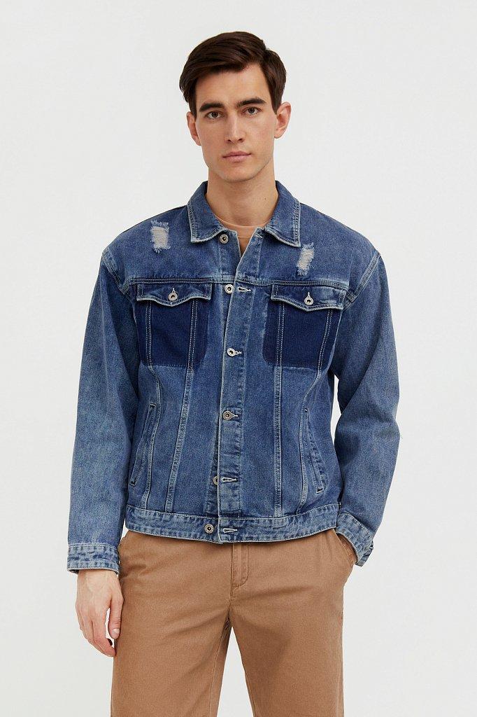 Джинсовая куртка из 100% хлопка, Модель S21-25005, Фото №2