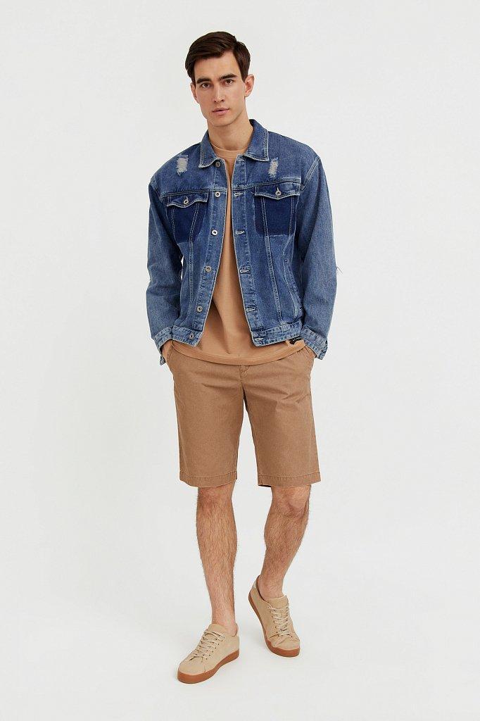 Джинсовая куртка из 100% хлопка, Модель S21-25005, Фото №3