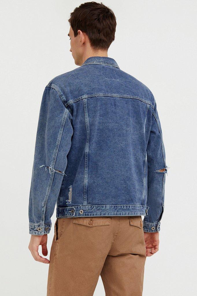 Джинсовая куртка из 100% хлопка, Модель S21-25005, Фото №4