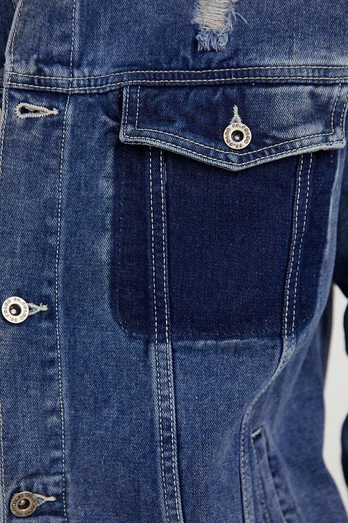 Джинсовая куртка из 100% хлопка, Модель S21-25005, Фото №5