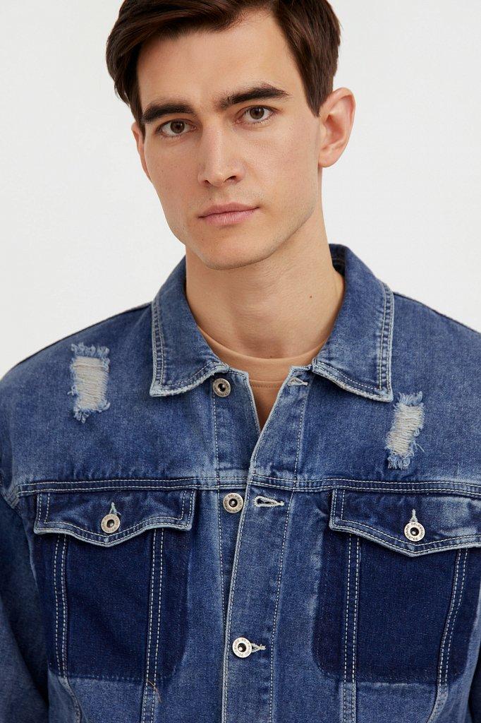 Джинсовая куртка из 100% хлопка, Модель S21-25005, Фото №6