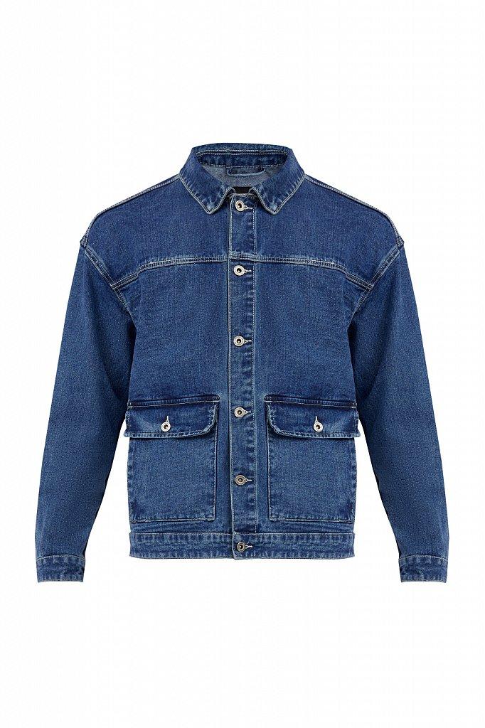 Куртка из денима с накладными карманами, Модель S21-25006, Фото №7