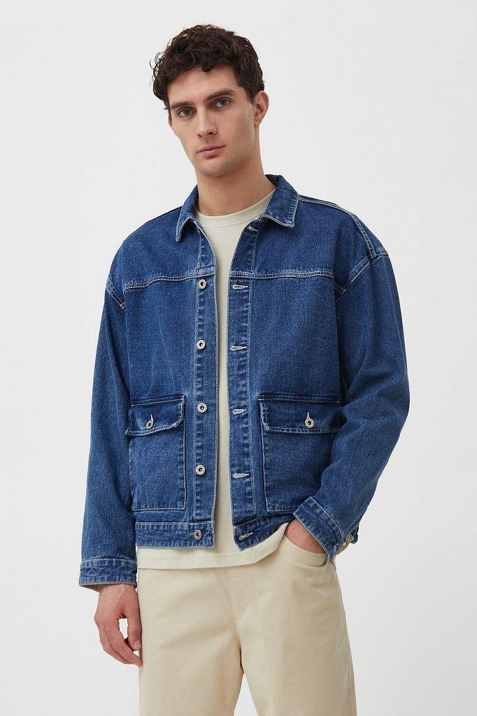 Куртка из денима с накладными карманами, Модель S21-25006, Фото №1