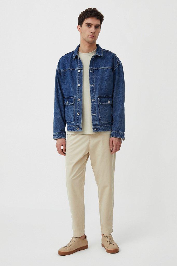 Куртка из денима с накладными карманами, Модель S21-25006, Фото №2