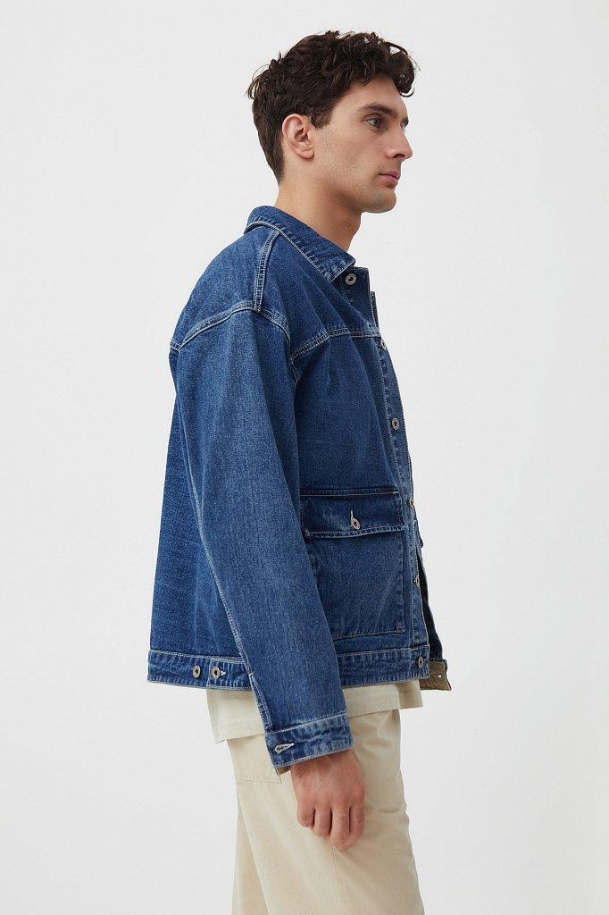 Куртка из денима с накладными карманами, Модель S21-25006, Фото №3
