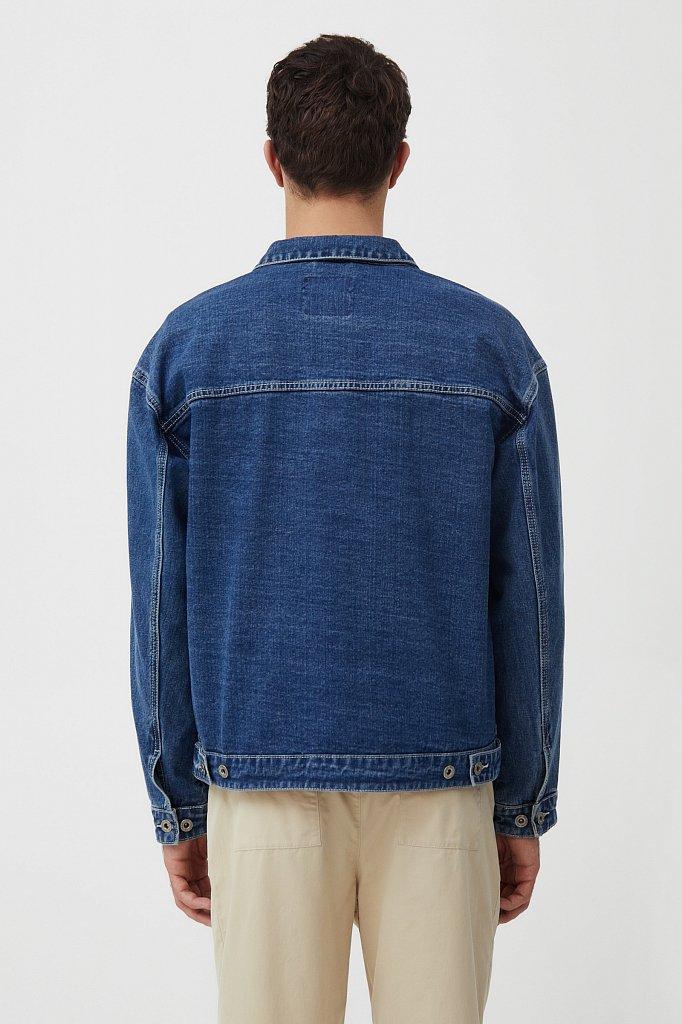 Куртка из денима с накладными карманами, Модель S21-25006, Фото №4