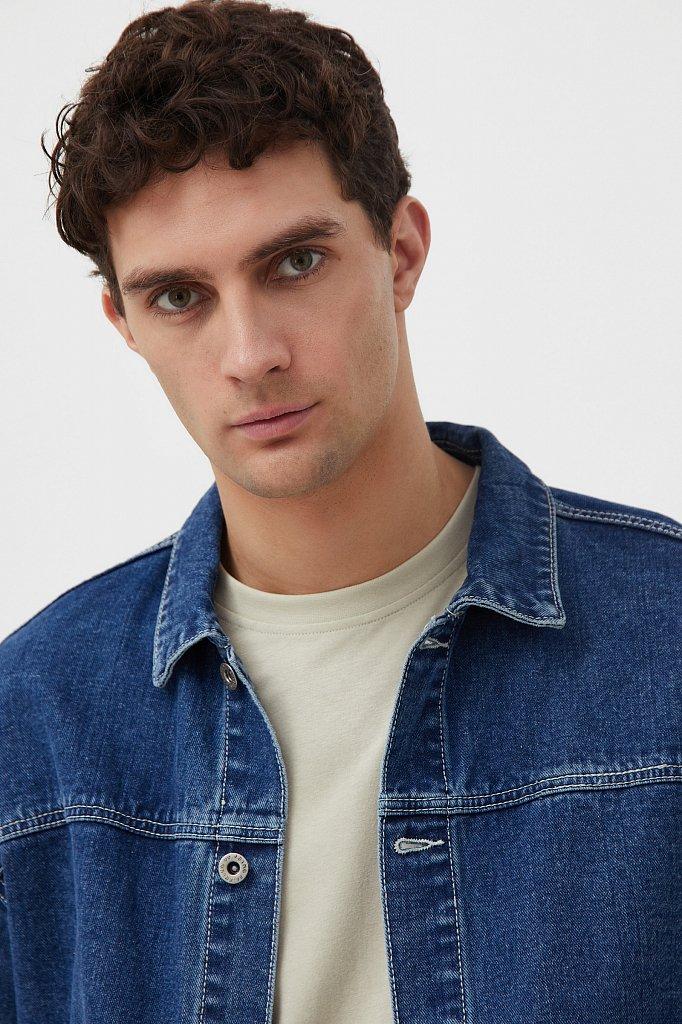 Куртка из денима с накладными карманами, Модель S21-25006, Фото №6