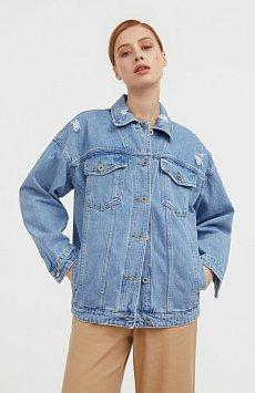 Джинсовая куртка свободного кроя S21-15000