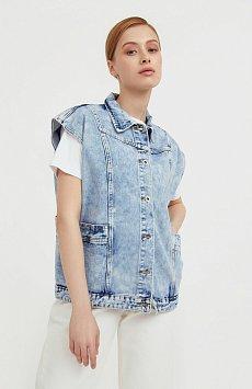 Жилет джинсовый женский Finn-Flare S21-15006