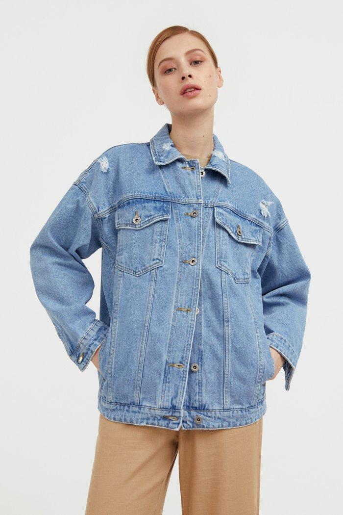 Джинсовая куртка свободного кроя, Модель S21-15000, Фото №1