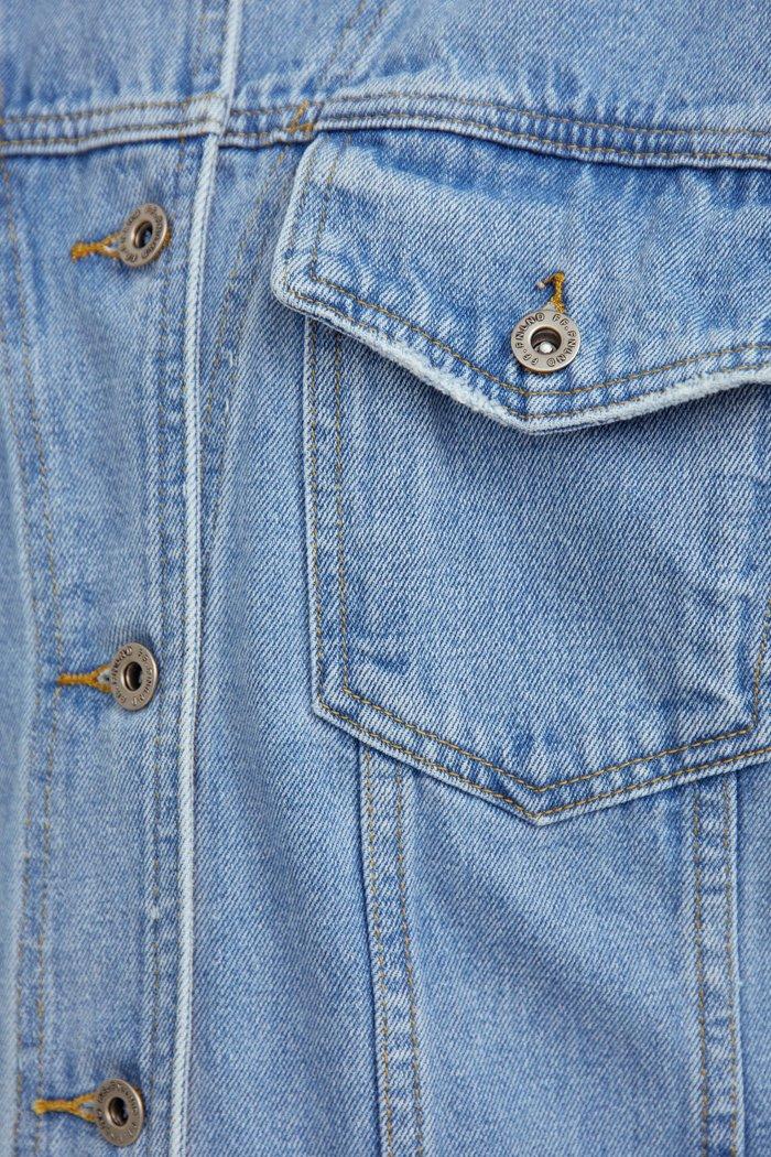 Джинсовая куртка свободного кроя, Модель S21-15000, Фото №6