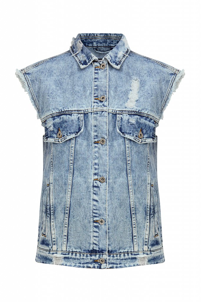 Жилет джинсовый женский, Модель S21-15005, Фото №7