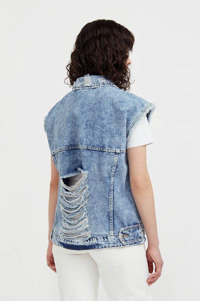 Жилет джинсовый женский, Модель S21-15005, Фото №4