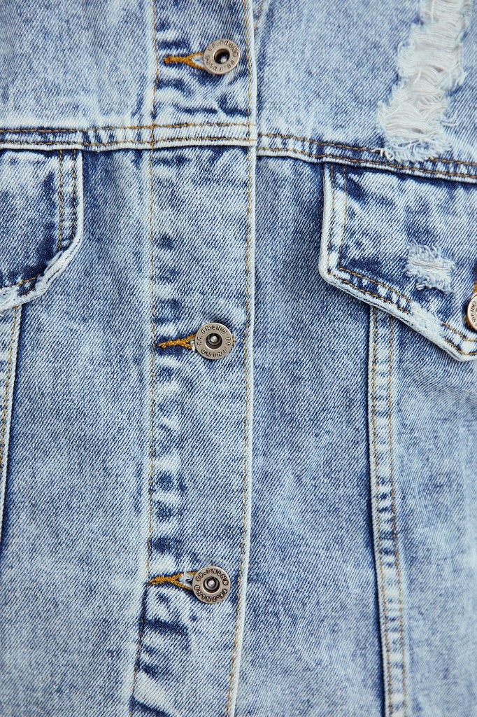 Жилет джинсовый женский, Модель S21-15005, Фото №5