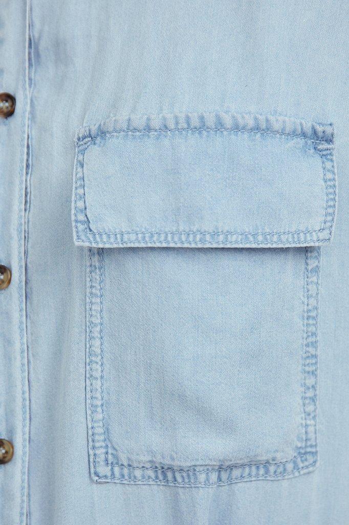 Платье-рубашка из мягкой вискозы, Модель S21-15007, Фото №5