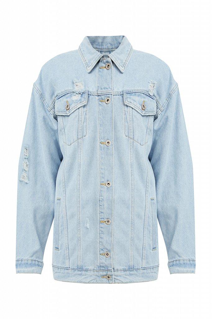 Голубая джинсовая куртка, Модель S21-15015, Фото №7