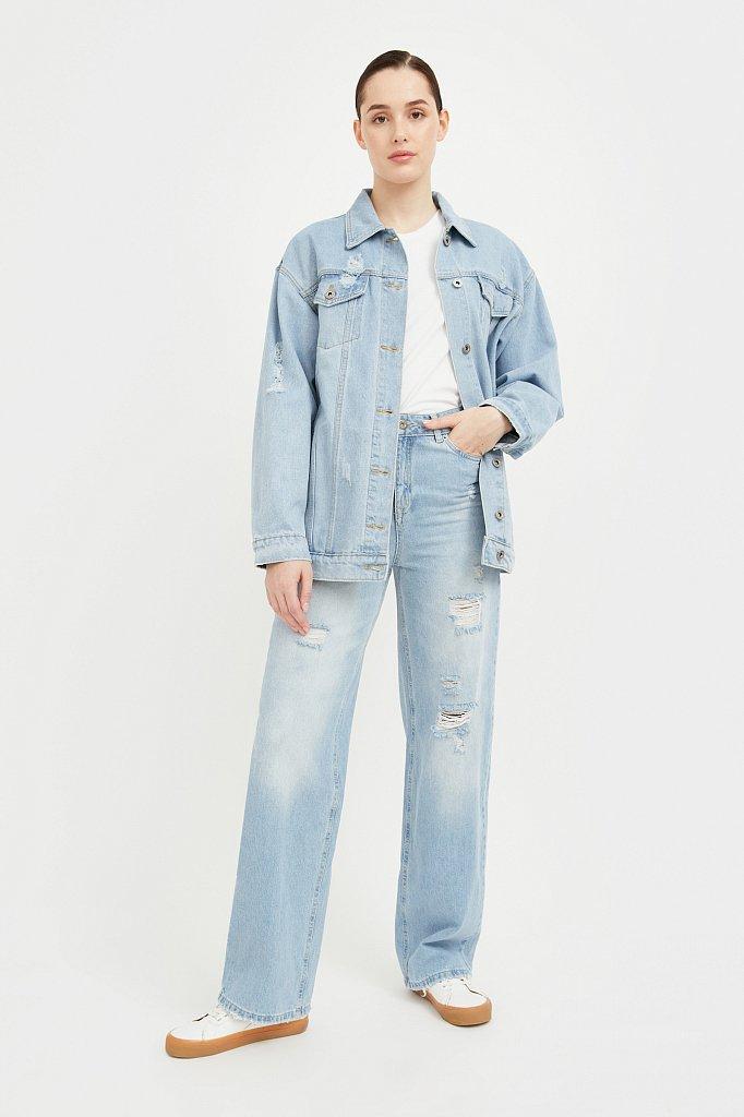 Голубая джинсовая куртка, Модель S21-15015, Фото №2