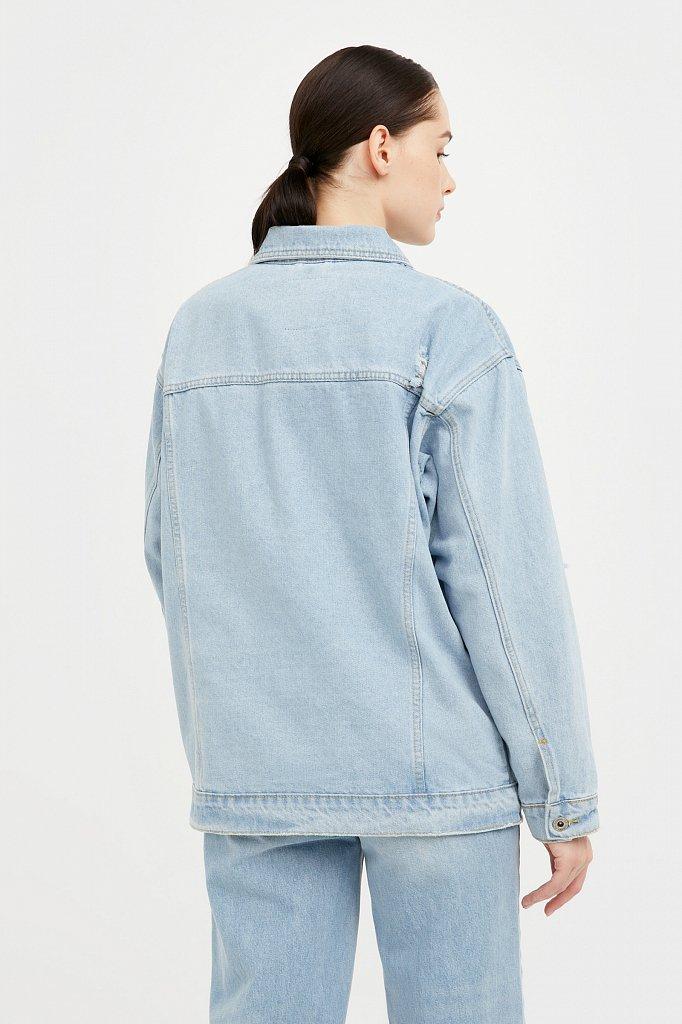 Голубая джинсовая куртка, Модель S21-15015, Фото №4