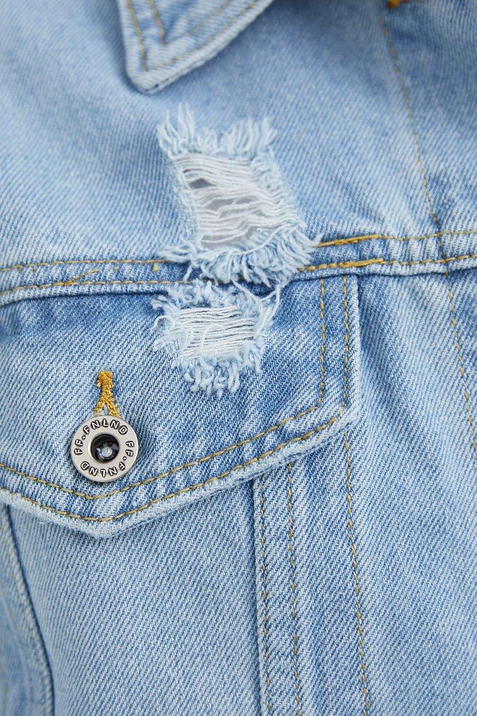 Голубая джинсовая куртка, Модель S21-15015, Фото №5