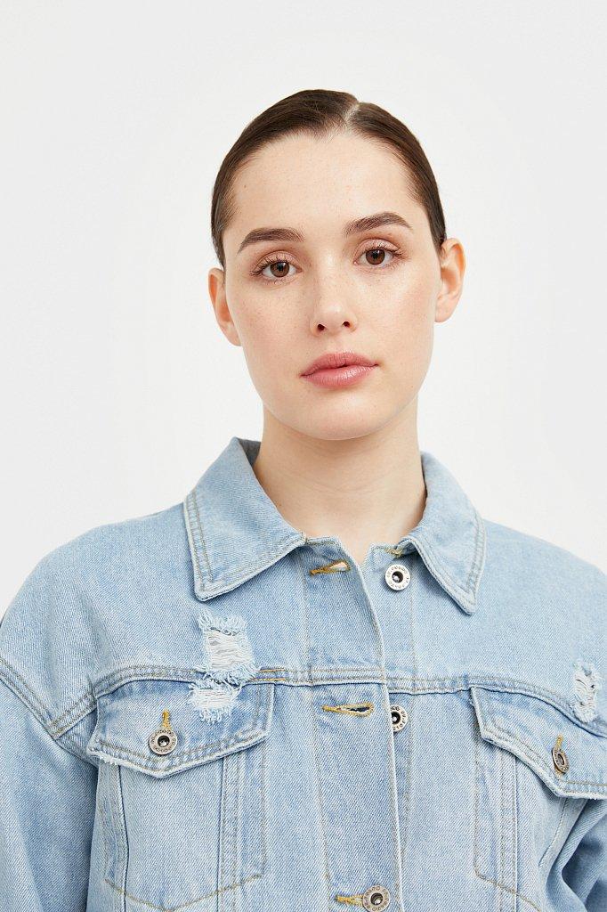 Голубая джинсовая куртка, Модель S21-15015, Фото №6