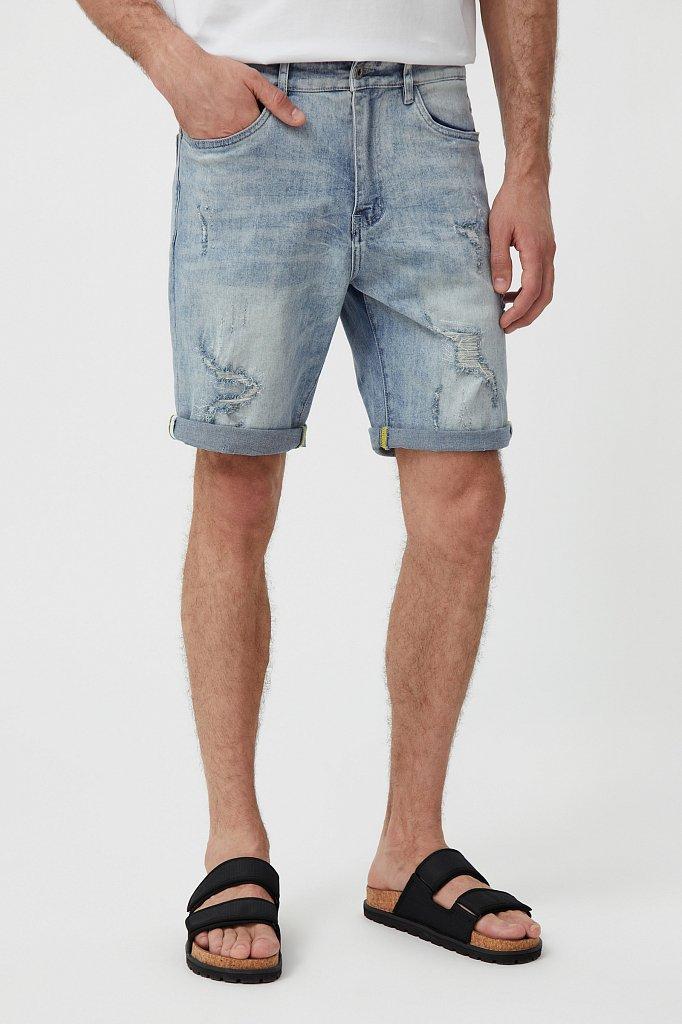 Шорты джинсовые мужские, Модель S21-25000, Фото №2