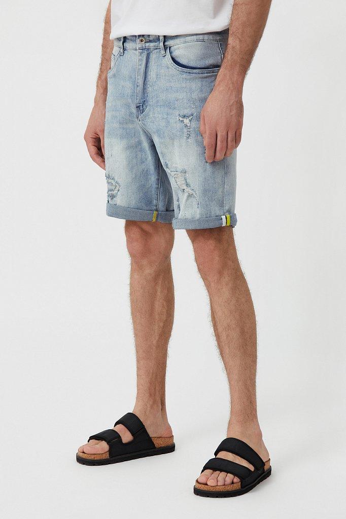 Шорты джинсовые мужские, Модель S21-25000, Фото №3