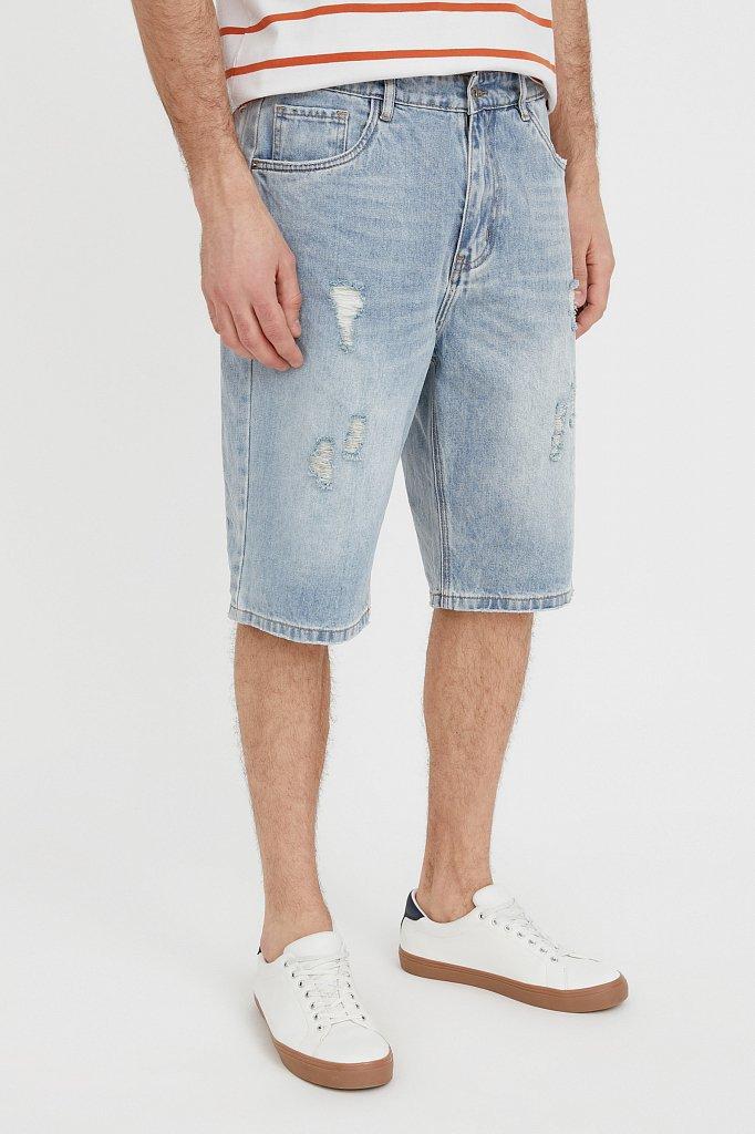 Шорты джинсовые мужские, Модель S21-25003, Фото №3