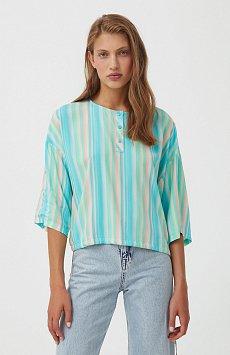Блузка с полосатым принтом S21-32022