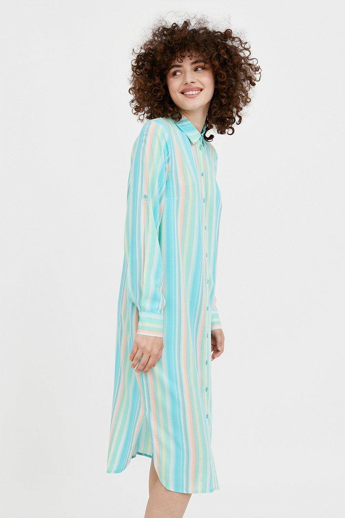 Прямое платье-рубашка в полоску, Модель S21-32021, Фото №3