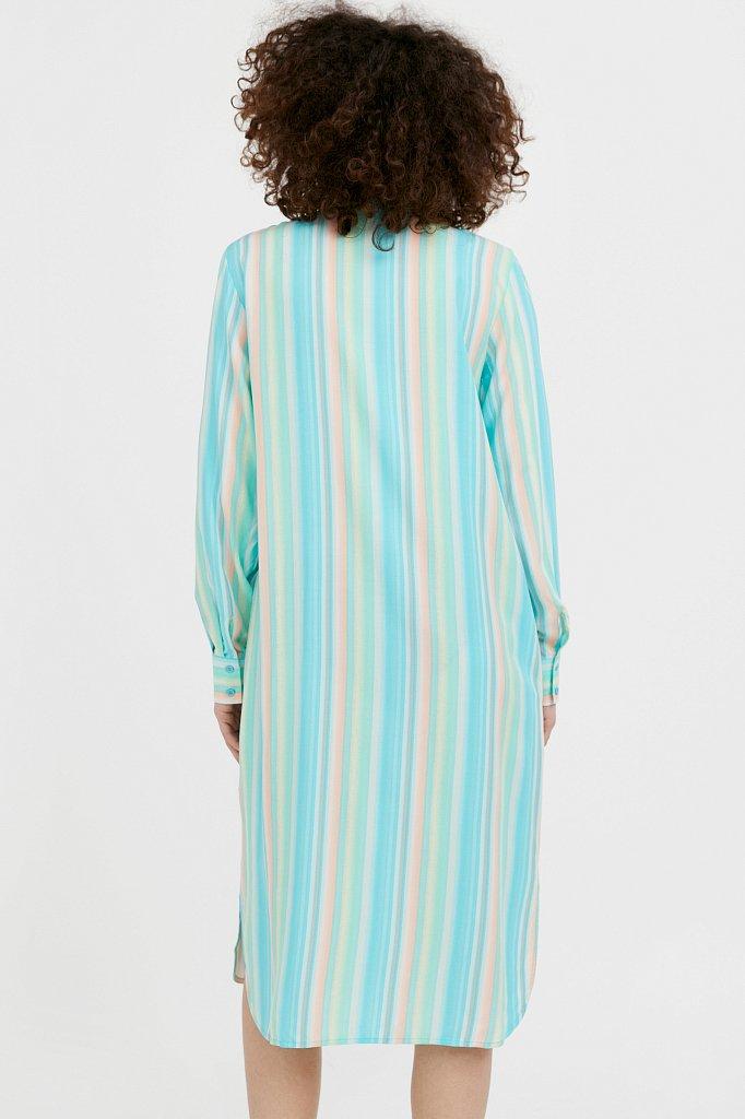 Прямое платье-рубашка в полоску, Модель S21-32021, Фото №4