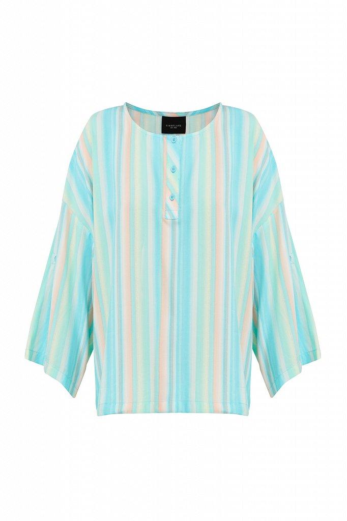 Блузка с полосатым принтом, Модель S21-32022, Фото №7