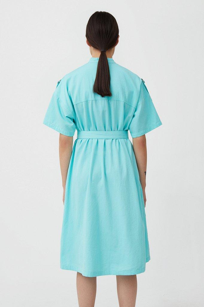 Платье-рубашка из хлопка, Модель S21-32043, Фото №4