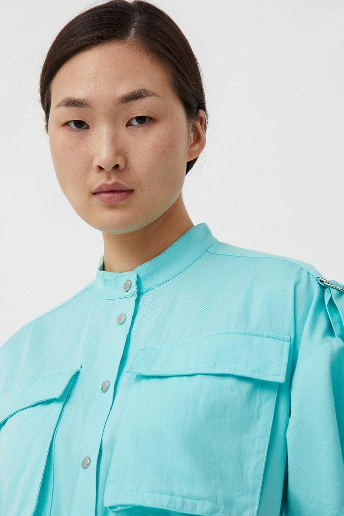 Платье-рубашка из хлопка, Модель S21-32043, Фото №6
