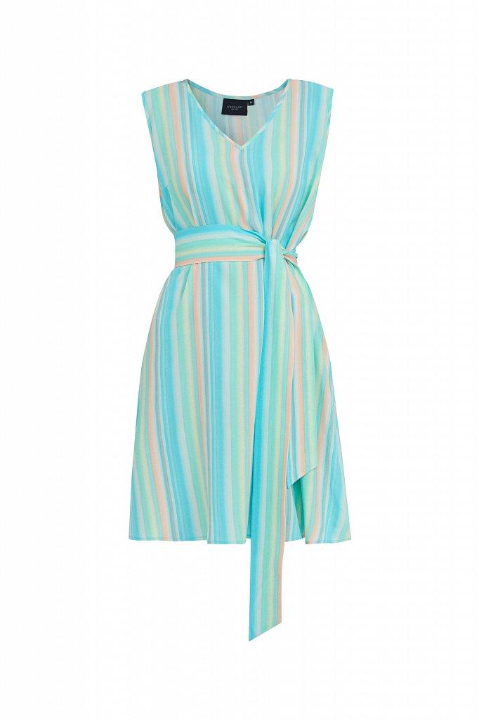 Платье-мини в полоску, Модель S21-32056, Фото №7