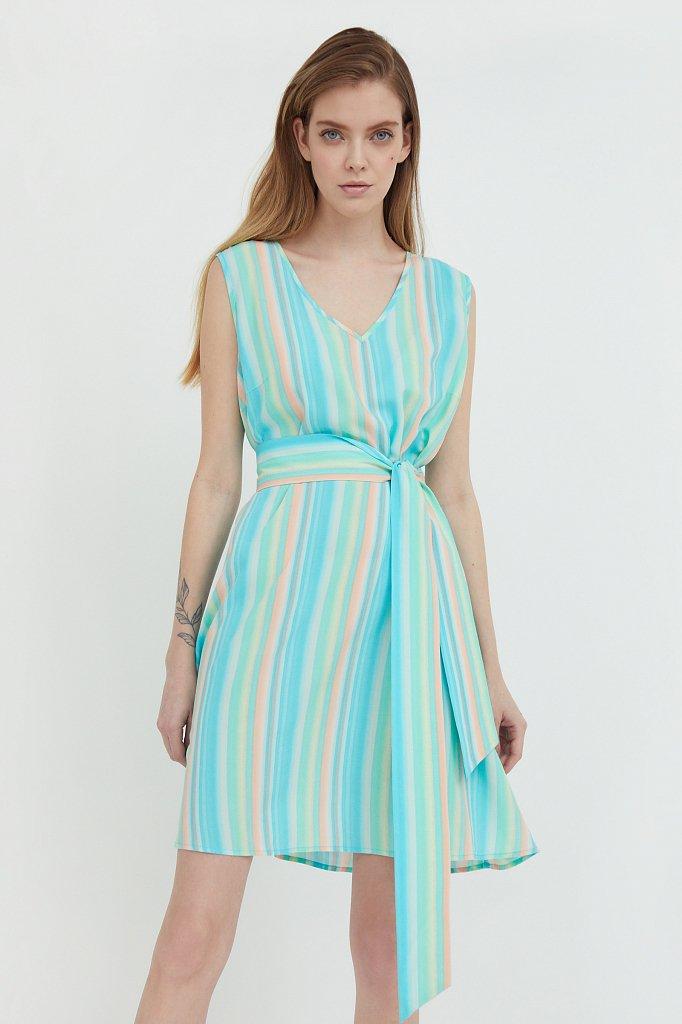 Платье-мини в полоску, Модель S21-32056, Фото №1