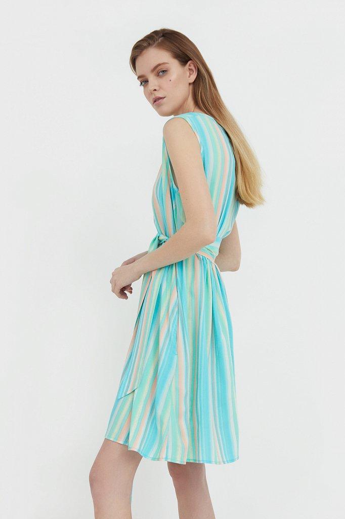 Платье-мини в полоску, Модель S21-32056, Фото №3