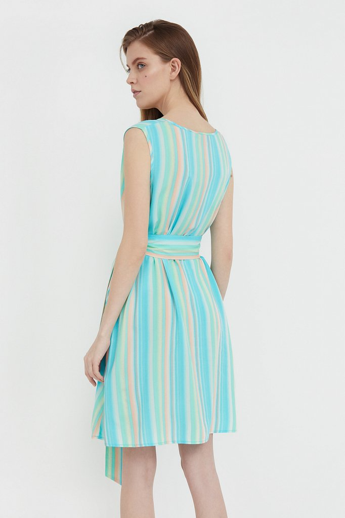 Платье-мини в полоску, Модель S21-32056, Фото №4