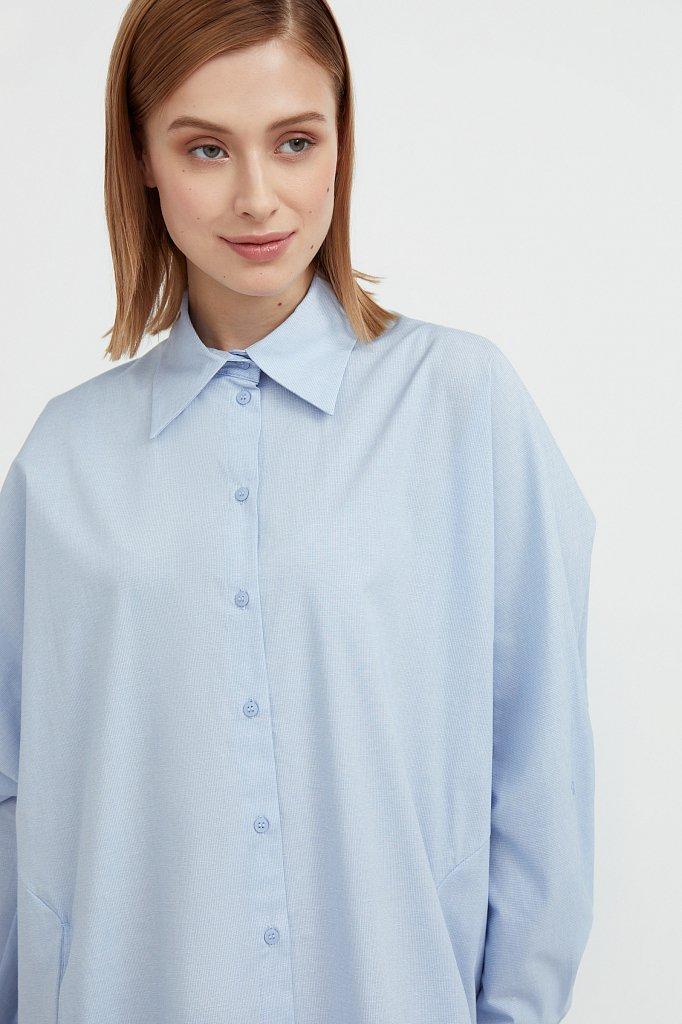 Платье-рубашка из 100% хлопка, Модель S21-11039, Фото №1