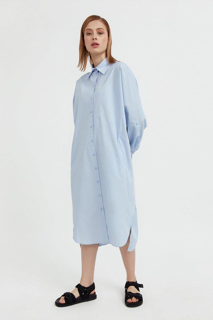 Платье-рубашка из 100% хлопка, Модель S21-11039, Фото №2