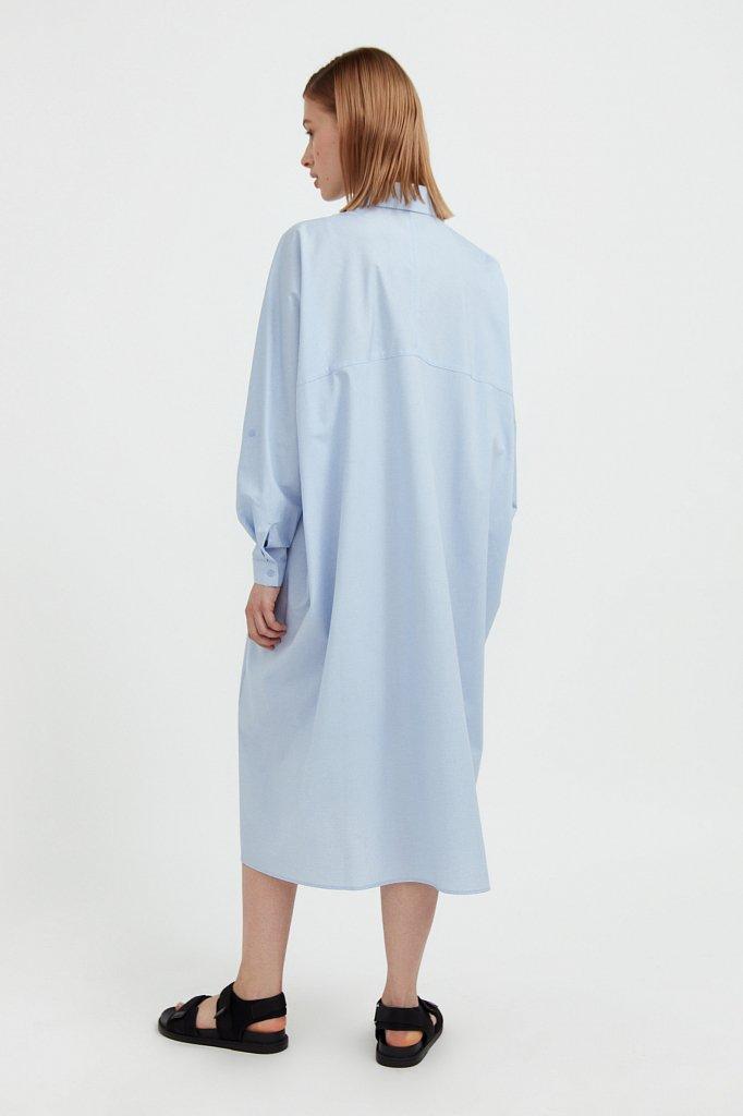 Платье-рубашка из 100% хлопка, Модель S21-11039, Фото №5