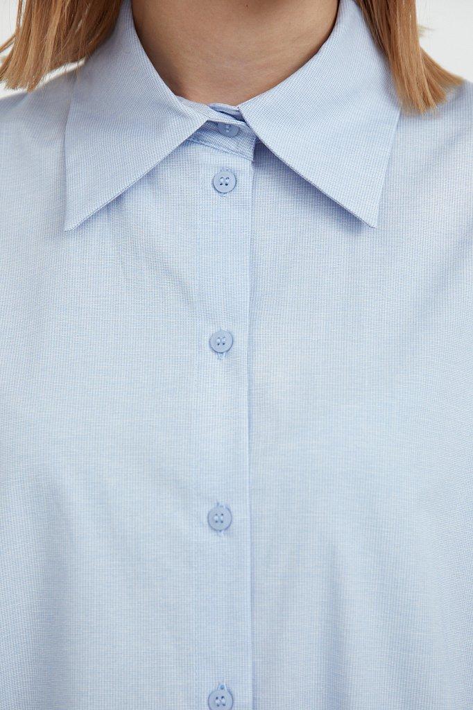 Платье-рубашка из 100% хлопка, Модель S21-11039, Фото №6