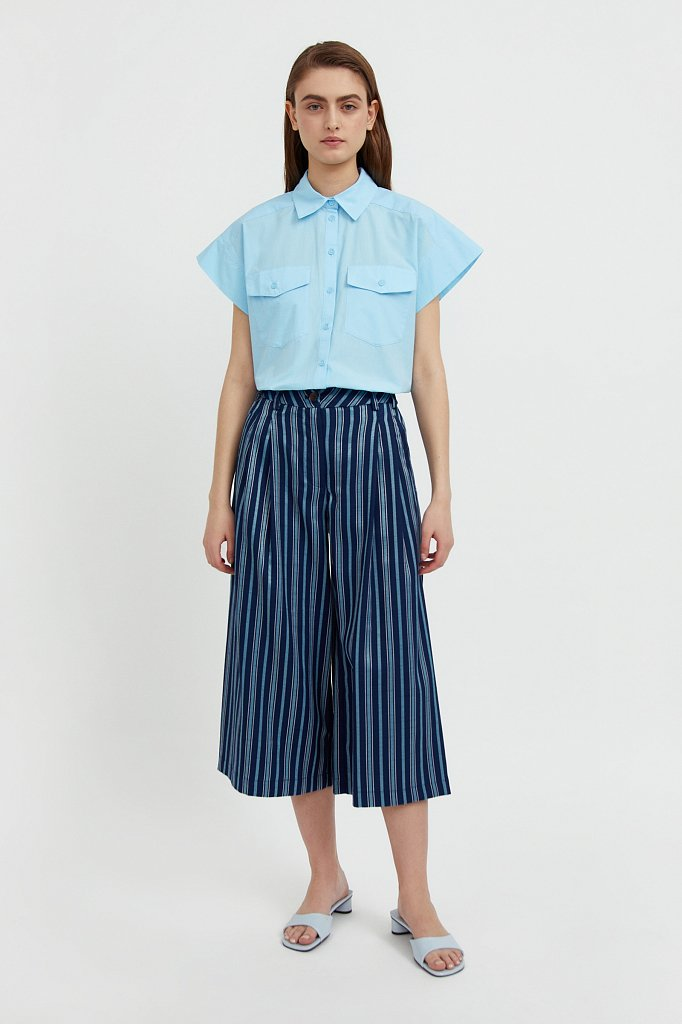 Хлопковая рубашка с короткими рукавами, Модель S21-11082, Фото №2