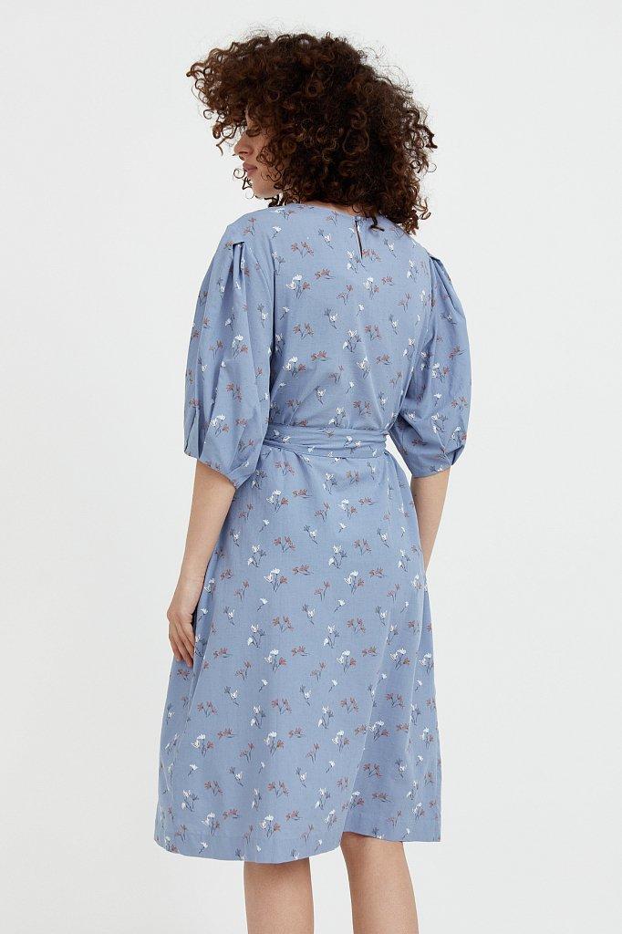 Хлопковое платье с цветочным принтом, Модель S21-11030, Фото №4