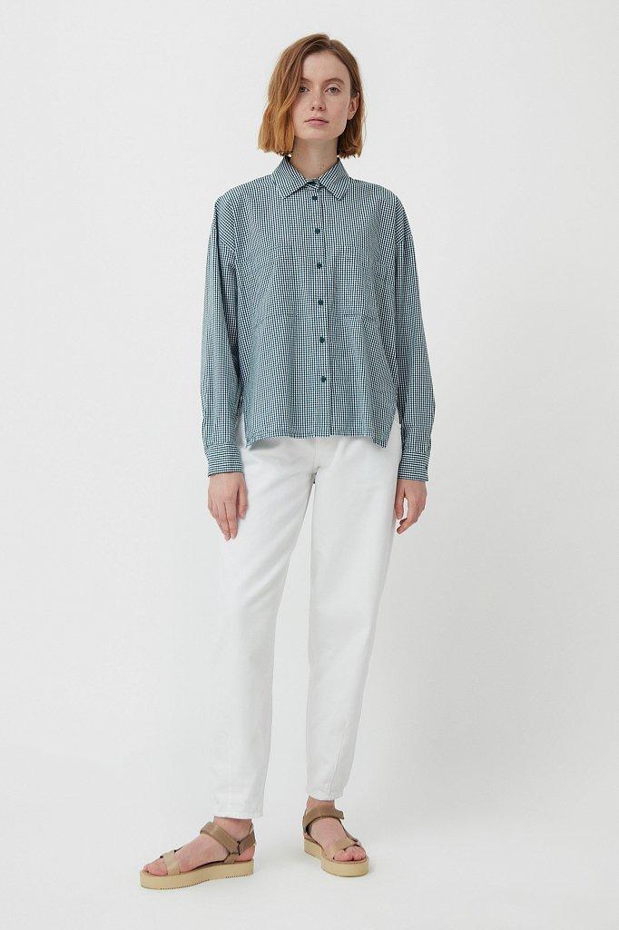 Хлопковая рубашка в клетку, Модель S21-14053, Фото №2