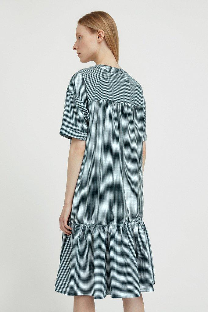 Свободное платье в клетку, Модель S21-14056, Фото №4