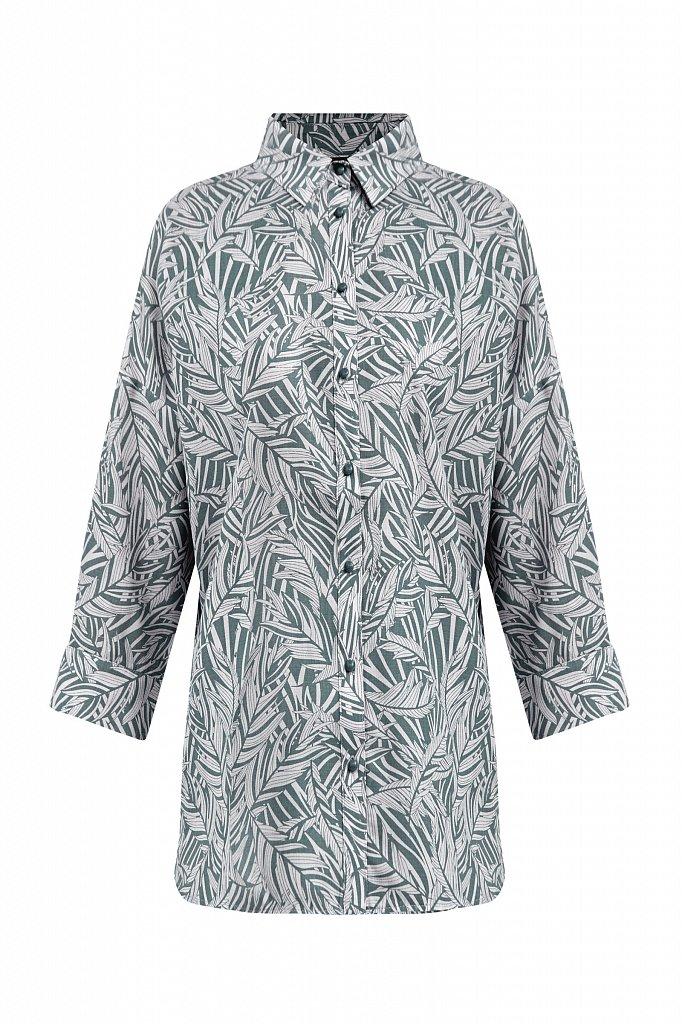 Рубашка с растительным орнаментом, Модель S21-14081, Фото №8