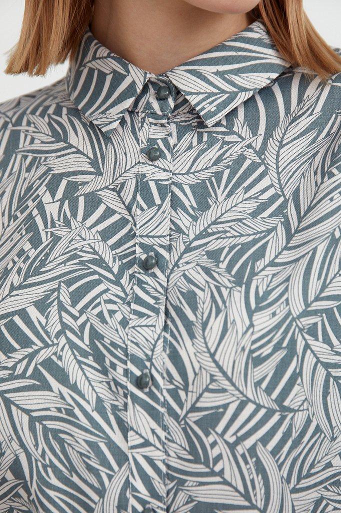 Рубашка с растительным орнаментом, Модель S21-14081, Фото №6