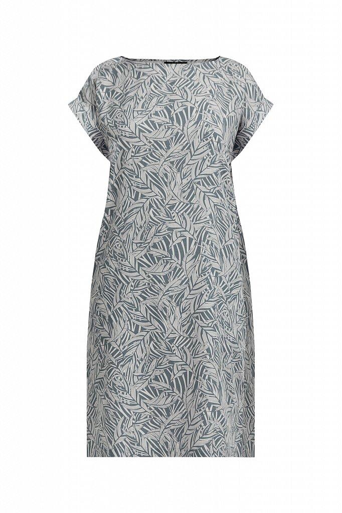Прямое платье с растительным узором, Модель S21-14086, Фото №7